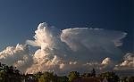 Podvečerní cumulonimbus severně od Prahy - autor: Dagmar Müllerová