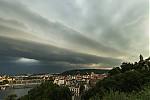 Shelf cloud nad Prahou - autor: Dagmar Müllerová