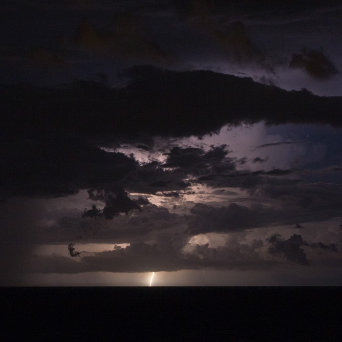Vzdálená bouřka nad mořem - autor: Dagmar Müllerová