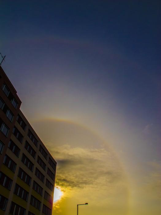 22°halo, slabý horní dotykový oblouk, supralaterální oblouk, - autor: Dagmar Müllerová