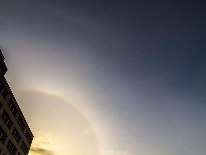 22°halo, slabý horní dotykový oblouk, supralaterální oblouk - autor: Dagmar Müllerová