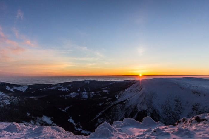Halový sloup při západu Slunce - autor: Dagmar Müllerová