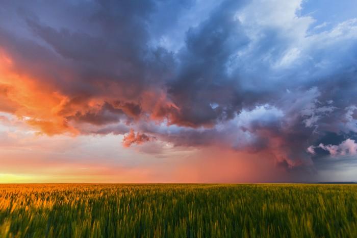 Přechod nasvíceného čela bouře - autor: Dagmar Müllerová
