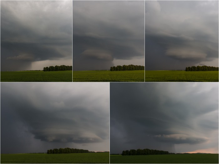 Vývoj supercelu připomínající bouře - autor: Dagmar Müllerová