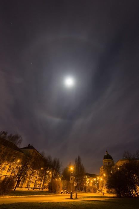22° halo na Měsíci - autor: Dagmar Müllerová