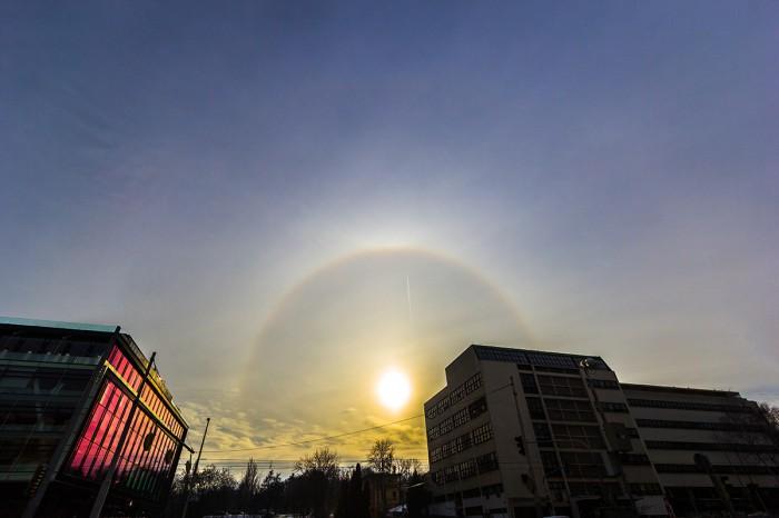 22°halo, horní dotykový oblouk, supralaterální oblouk, slabý cirkumzenitální oblouk - autor: Dagmar Müllerová