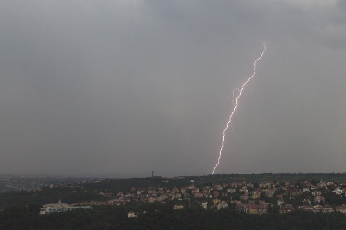 CG blesk jižně od mé pozice III. - autor: Dagmar Müllerová