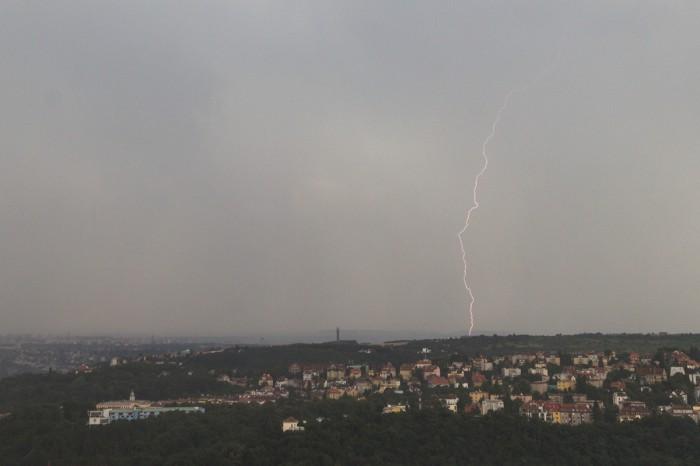 CG blesk jižně od mé pozice II. - autor: Dagmar Müllerová
