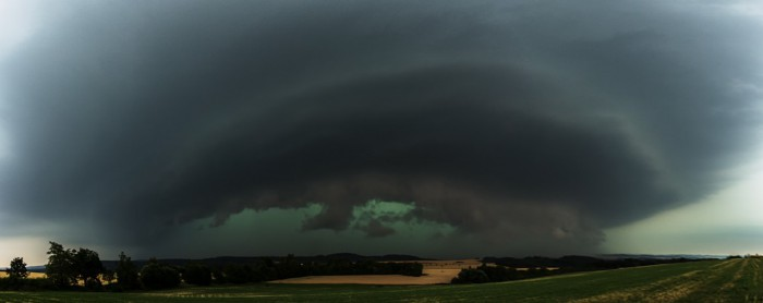 Panorama čela silné bouře - autor: Dagmar Müllerová