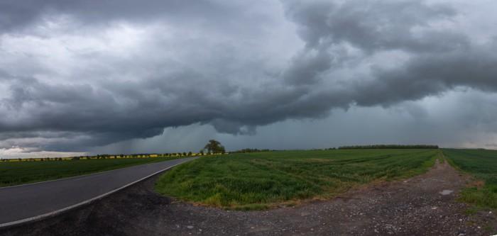 Panorama příchodu bouře - autor: Dagmar Müllerová