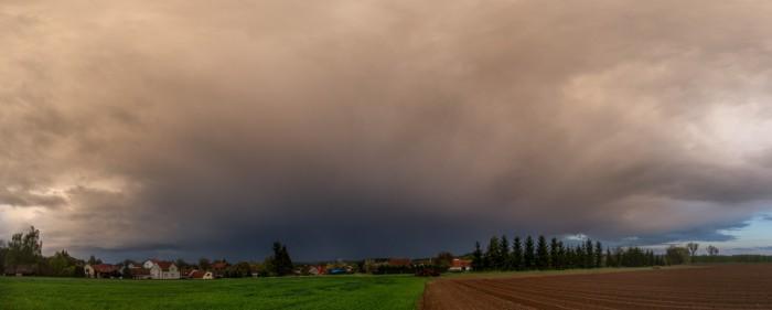 Panorama odcházející bouřky - autor: Dagmar Müllerová