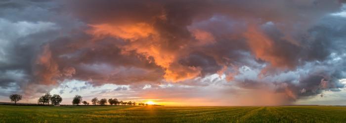 Panorama shelfu nasvíceného zapadajícím Sluncem - autor: Dagmar Müllerová