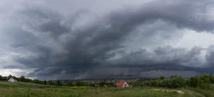 Panorama přibližující se bouře - autor: Dagmar Müllerová