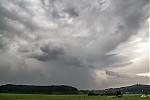 Odcházející silná bouřka nad Novým Strašecím - autor: Tomáš Chlíbec