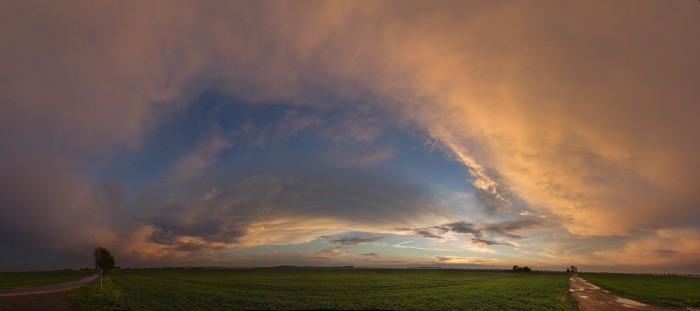 Panorama pozápadové oblohy - autor: Tomáš Chlíbec