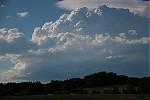 Čerstvě vzniklá západní supercela na Příbramsku - autor: Jan Džugan