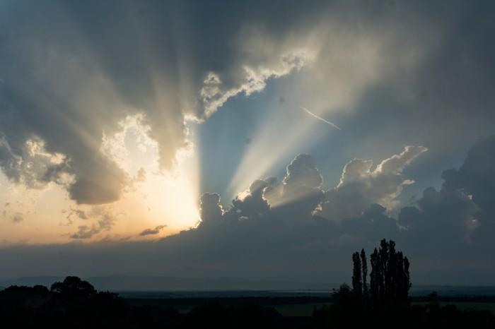 Konvekce při západu Slunce - autor: Jan Džugan