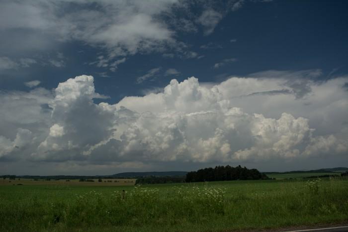 Rozvoj bouřek severně - autor: Jan Džugan