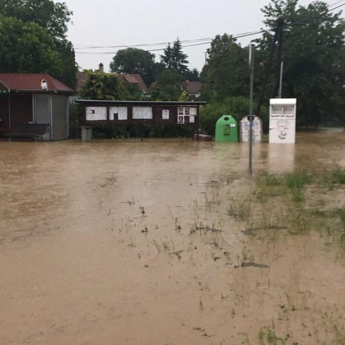 Zaplavená obec Březsko - autor: Jan Švarc