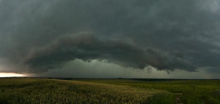 Panorama přicházející silné bouře od jihu II - autor: Jan Švarc