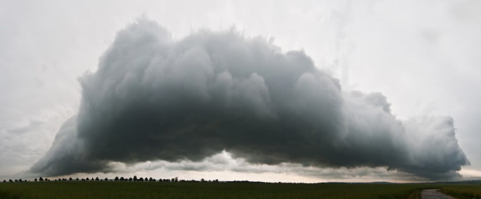 Panorama mohutného roll cloudu - autor: Jan Švarc