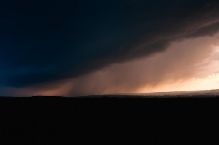 Srážková stěna nasvícená pozdním sluncem II - autor: Jan Švarc