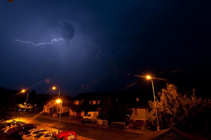 CC výboj na odcházející bouřce II - autor: Jan Švarc