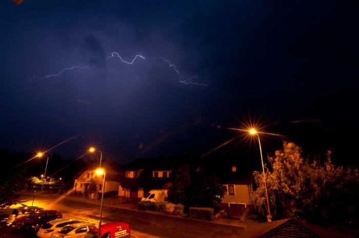 CC výboj na odcházející bouřce - autor: Jan Švarc