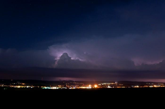 Vzdálená bouřka nad Drahanskou vrchovinou IV - autor: Jan Švarc