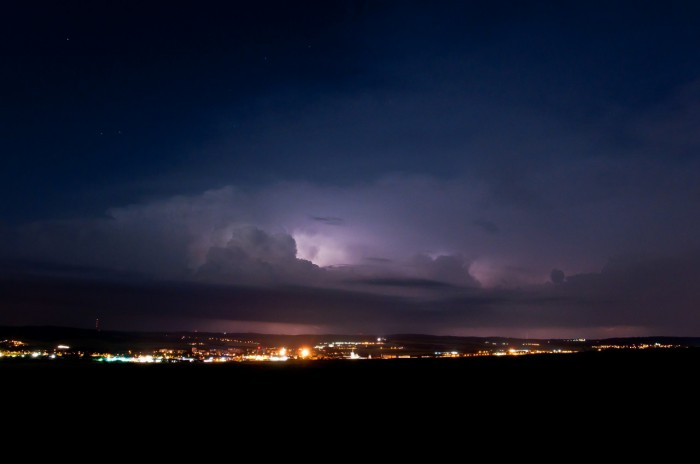 Vzdálená bouřka nad Drahanskou vrchovinou II - autor: Jan Švarc