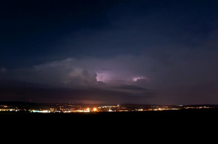 Vzdálená bouřka nad Drahanskou vrchovinou - autor: Jan Švarc