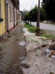Závěj krup na ulici - autor: Jiří Kalina
